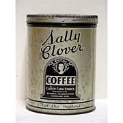 SALE Coffee Tin Advertising for Sally Clover One Pound