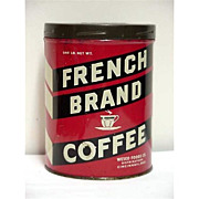 SALE Coffee Tin Advertising for French Brand