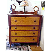 SALE Cherry  and Birds Eye Maple Chest of Drawers