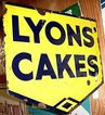 LYONS Cakes Advertising Sign Double Sided Porcelain