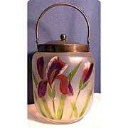 SALE Biscuit Jar or Barrel Victorian American Glass