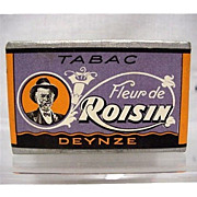 SALE French Tobacco Box  Advertising Fleur de Roisin