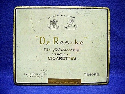 De Reszke Virginia Cigarette Pocket Tin