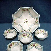 SALE Nut Set  Japanese Porcelain Hand Painted