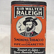 SALE Sir Walter  Raleigh Smoking  Tobacco Pocket Tin