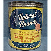 SALE Advertising Tin For Natural Brands Honey
