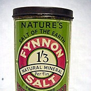 SALE Salt Container Fynnon Limited tin with Original Contents