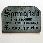 SALE Insurance Sign Springfield Fire and Marine