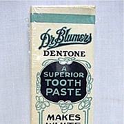 SALE Dr. Blumers Tooth Paste Box MINT Unused