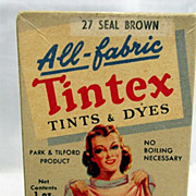 SALE Tintex All Fabrics Tints and Dyes Box with Original Contents