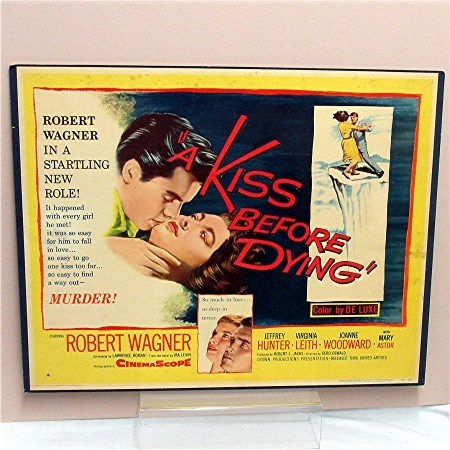 1956 Movie Poster or Broadside Kiss before Dying