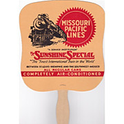 SALE Missouri Pacific Lines Railroad Advertising Fan