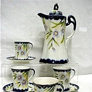 SALE Cobalt Porcelain Chocolate Set 50+ % Off