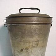 SALE Tin Pudding Steamer with Lid