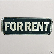 SALE For Rent 1930 Tin Sign
