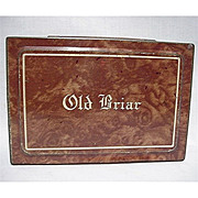 SALE Tobacco Tin Old Briar Advertising Tin