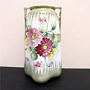"SALE Nippon Vase Hand Painted 10""  tall  $109"
