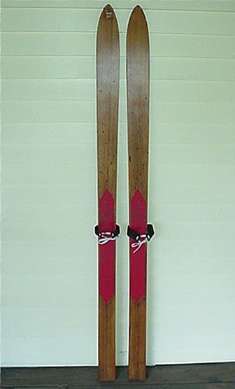 Skis Pair of Lund Childs Wood Skis
