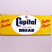 SALE Capital Bread Tin Advertising Sign