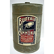 SALE Buffalo Ammonia Advertising Tin 50% OFF