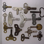 SALE 15 Clock Keys Assortment of Sizes and Shapes