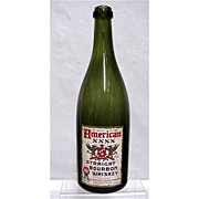 SALE American Bourbon Whiskey Emerald Green Bottle