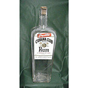 SALE Rum Bottle Cubana Club Brand