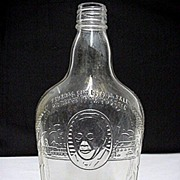 SALE Whiskey Bottle Harry Wilken Embossed