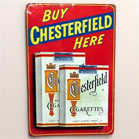50% OFF Chesterfield Tin Advertising Sign