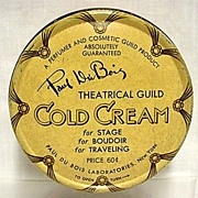 SALE Advertising Tin Paul Du Bois Theatrical Guild Cold Cream