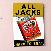 SALE All Jacks Cigarettes Tin Advertising Sign