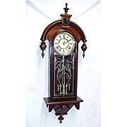 SALE American Wall Clock  By Gilbert Clock Co. Restored, 100% Original