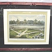 SALE Base Ball Print By Currier And Ives