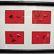 SALE Ten Framed Fly Fishing Flies