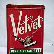SALE Velvet Pipe & Cigarette Tobacco Pocket Tin with Off White Lettering