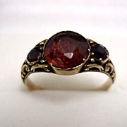 SALE Garnet Ring  Size 7  1/2   $395