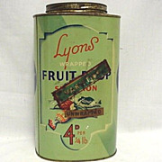 SALE Lyons Fruit Drop Candy Tin
