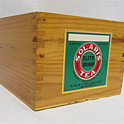 SALE Solaris Tea Caddy  Wood  Advertising  Box   $49