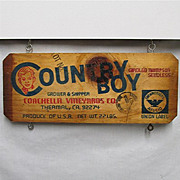 SALE Country Boy Grape Wood  Advertising Sign  $20