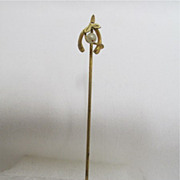 SALE Stickpin Wishbone with Pearl  $12