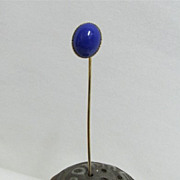SALE Stickpin  Deep Blue Cabochon Stone  $19