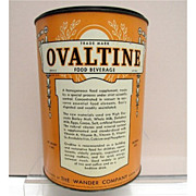SALE Ovaltine  Food Beverage 4 Pound Hospital Size Tin