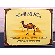 SALE Camel Cigarettes Flat Fifty Cigarette Tin