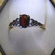 SALE Garnet Circa 1900 Antique Ring Size 8 3/4  $295