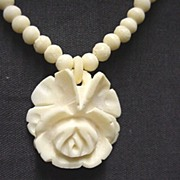 SALE Carved Rose Choker or Necklace  $125