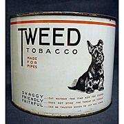 SALE Tweed Tobacco Tin featuring Scottie Dog