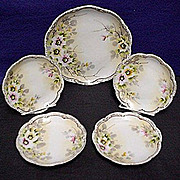 SALE Cake Set Nippon Porcelain Service for 4