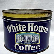 SALE Advertising Coffee Tin White House Coffee