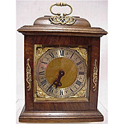 SALE Bracket Clock 15 Jewel for Desk or Mantel