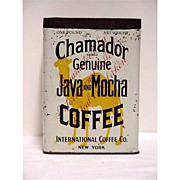 SALE Advertising Coffee Tin Chamadon Java & Mocha Coffee One Pound